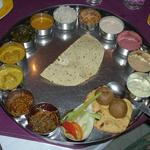 This is the largest thali it has been my pleasure to consume. If you are ever in Jaipur, Rajasthan, I highly recommend the Rajasthani Thali at LMB Hotel (Lakshmi Mishtan Bhandar). Don't miss the adjacent sweet shop.