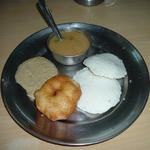 My other favorite breakfast in Banares is South Indian idli, vadai, sambar and coconut chutney. I often stay near Hanuman Ghat where many South Indians encamp when on pilgrimage. This one needs a steaming cup of coffee.